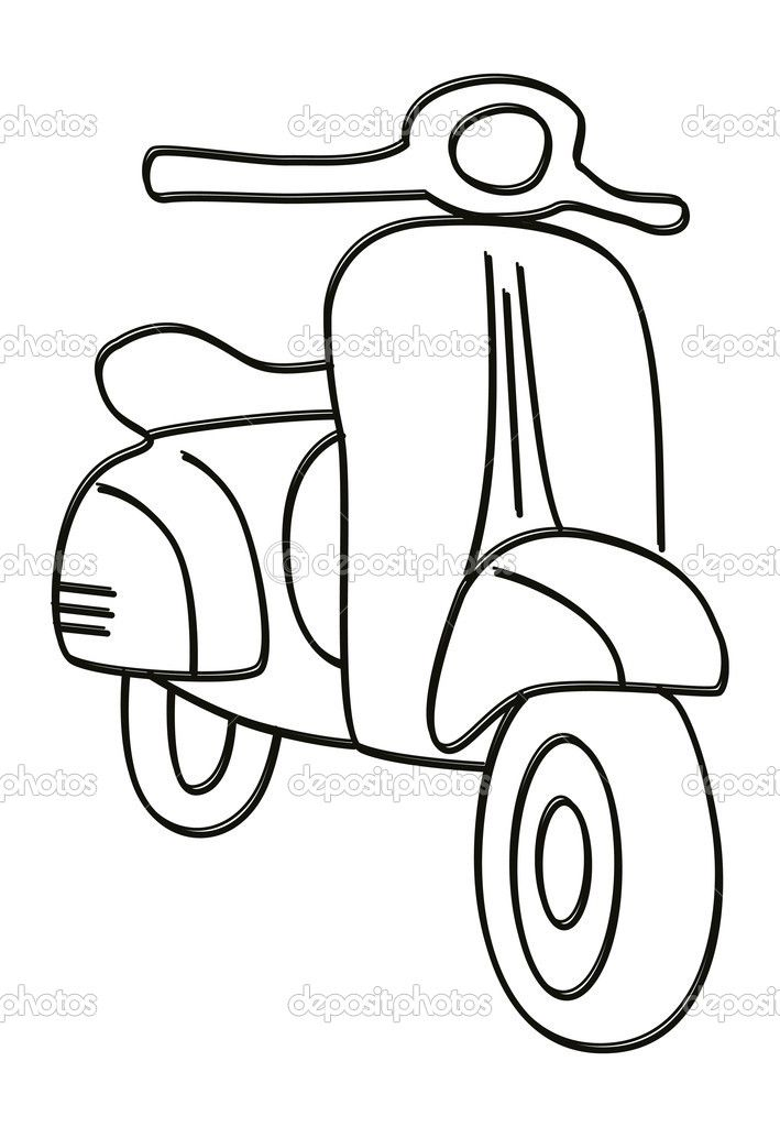 Scooter clipart black and white 6 » Clipart Station.