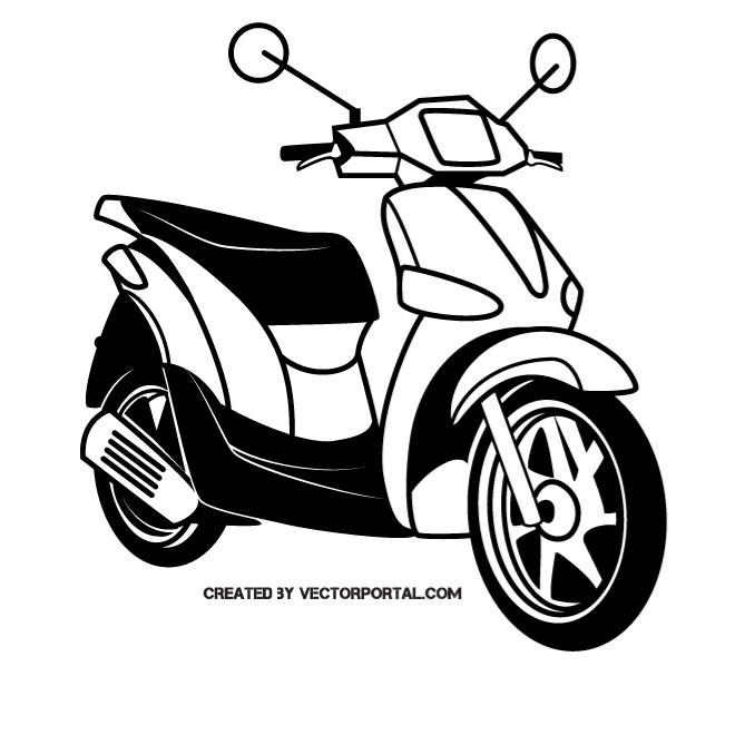 Scooter motorcycle.