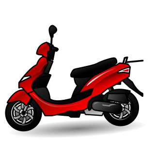 motor scooter.