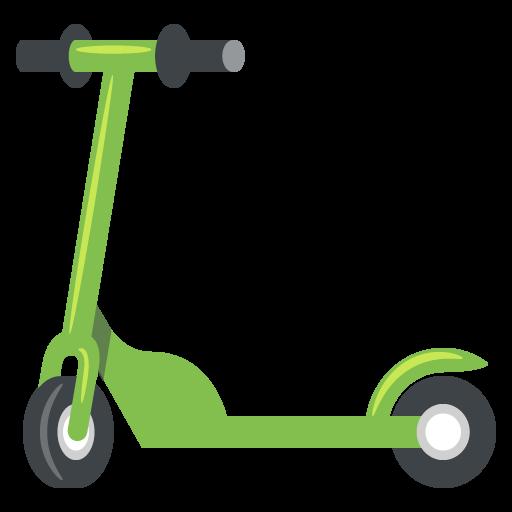 Scooter Emoji Vector Icon.