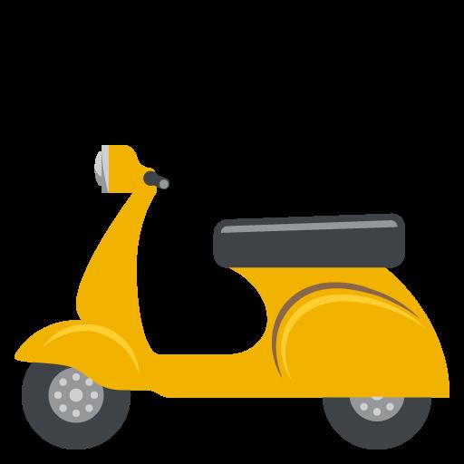 Motor Scooter Emoji Vector Icon.
