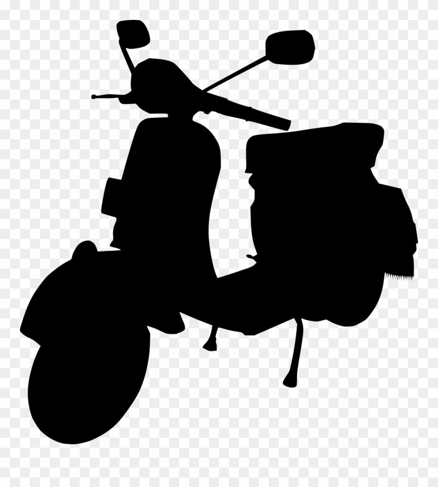 5 Scooter Moped Silhouette.