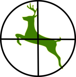 Deer In Scope Clip Art at Clker.com.