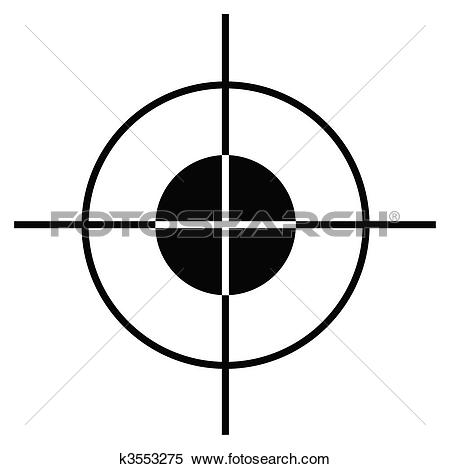 Clip Art of Sniper target sight or scope k3553272.