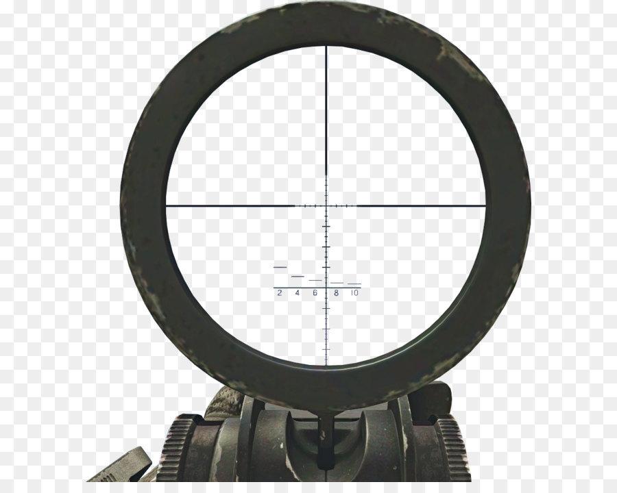Telescopic Sight Reticle Camera Lens.