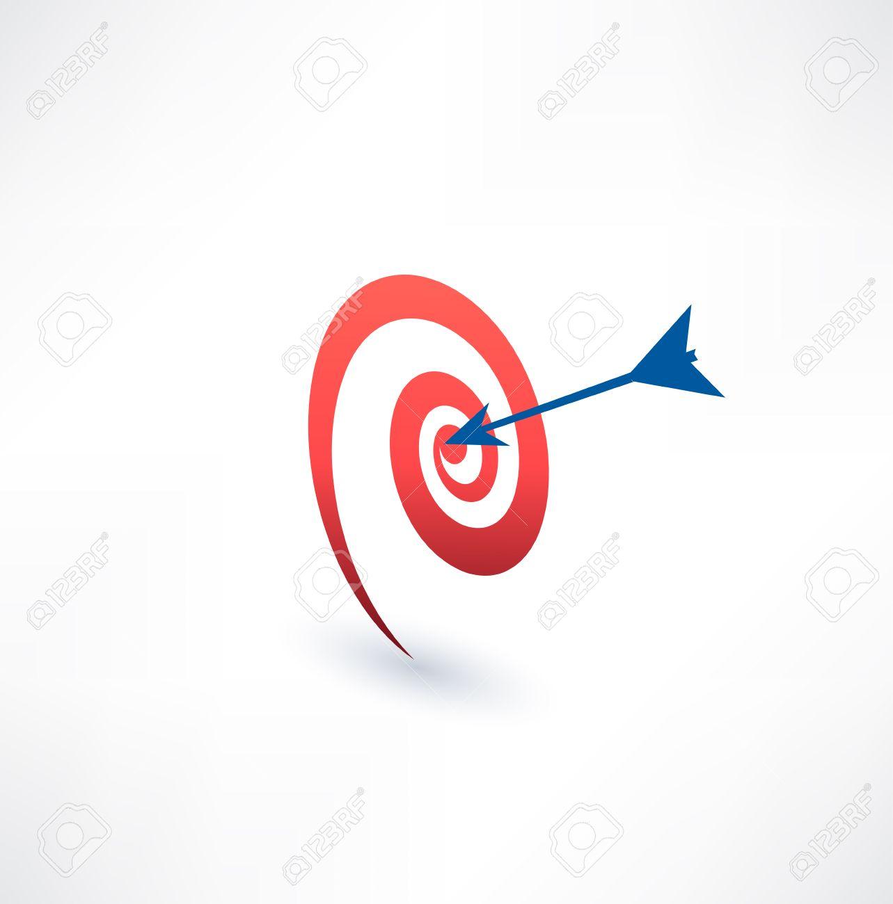 Obiettivo E Freccia. Il Concetto Di Scopo. Logo Design. Clipart.