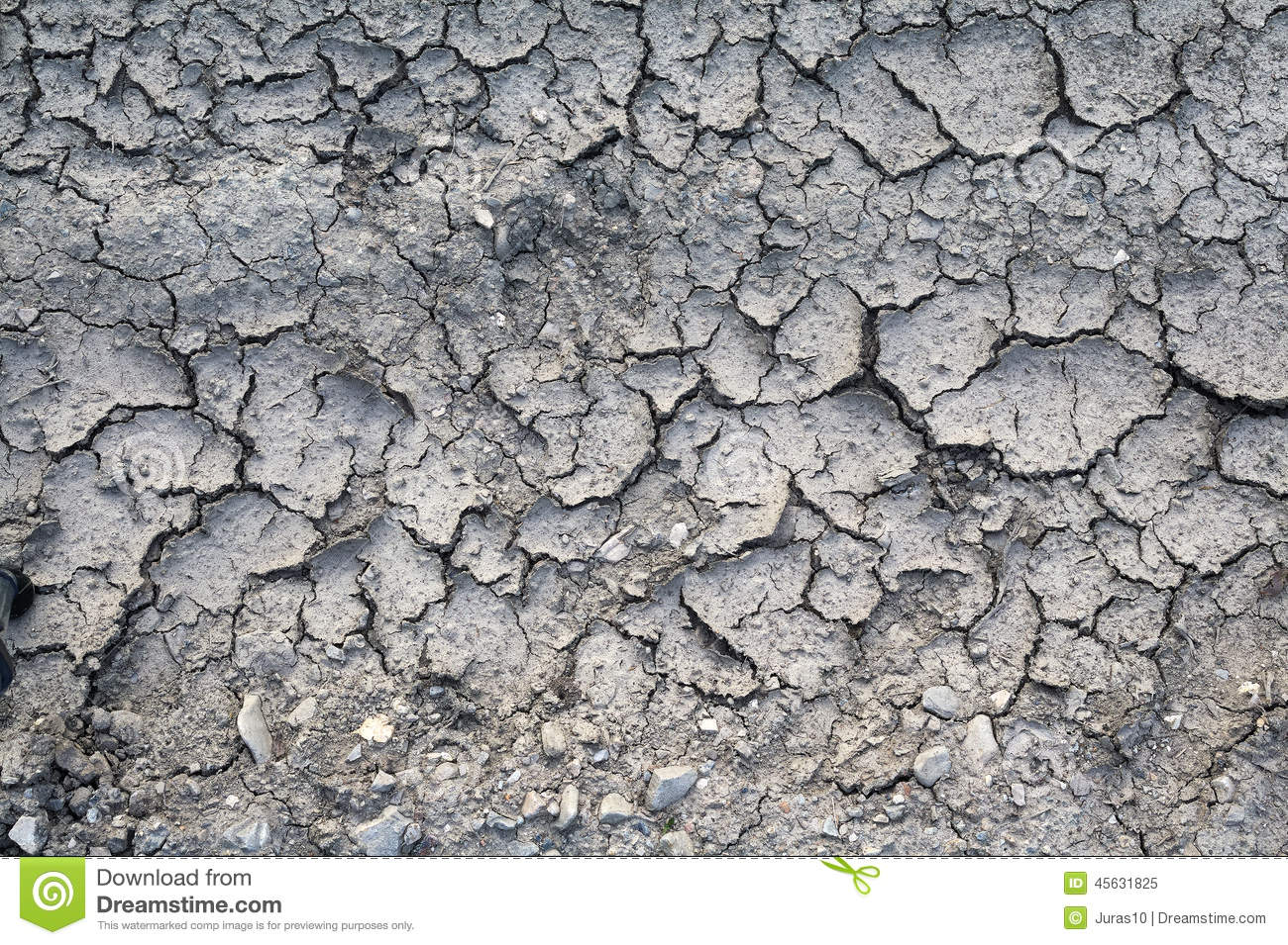 Scorched Earth Stock Photo.