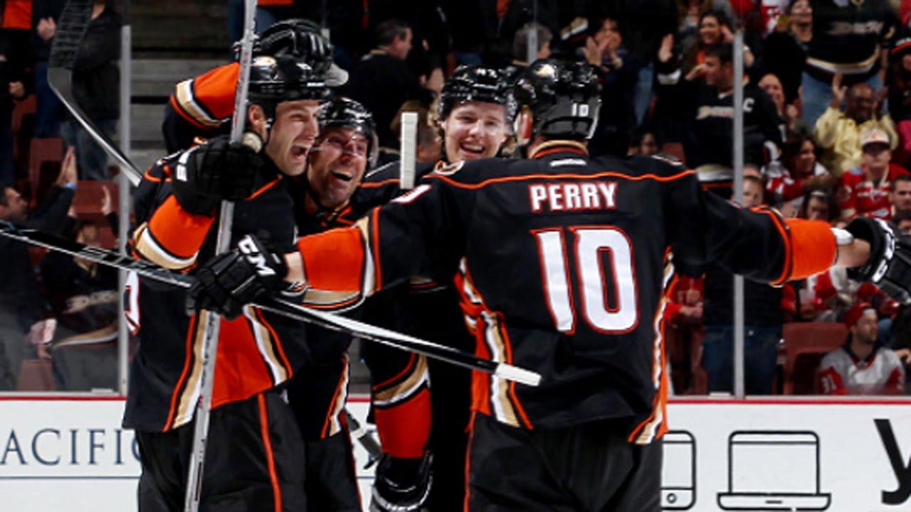 Ducks score three goals in under four minutes.
