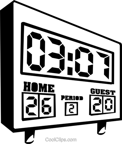 sports scoreboard Royalty Free Vector Clip Art illustration.