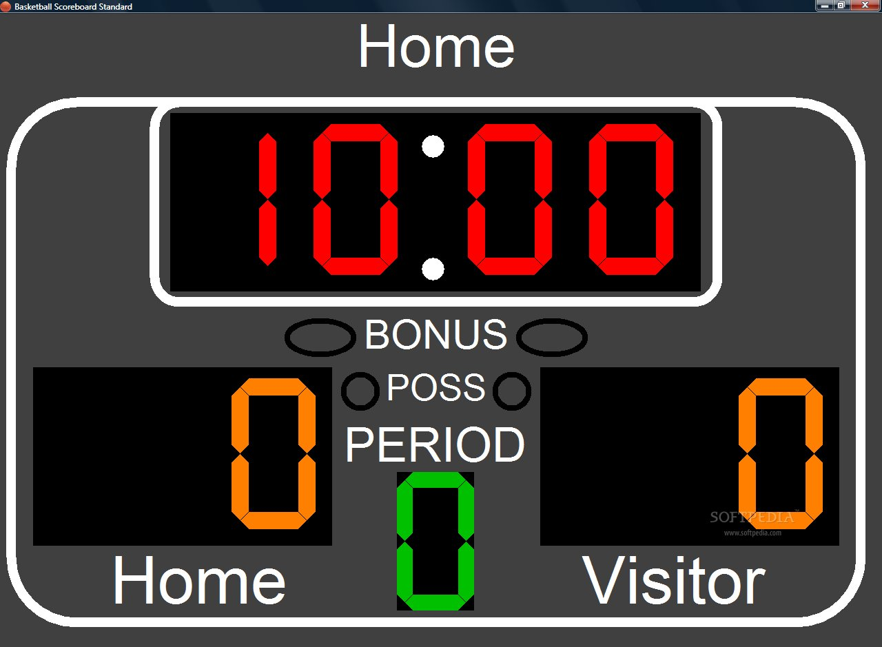 Basketball scoreboard clipart.