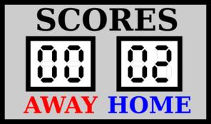 Scoreboard Clip Art.