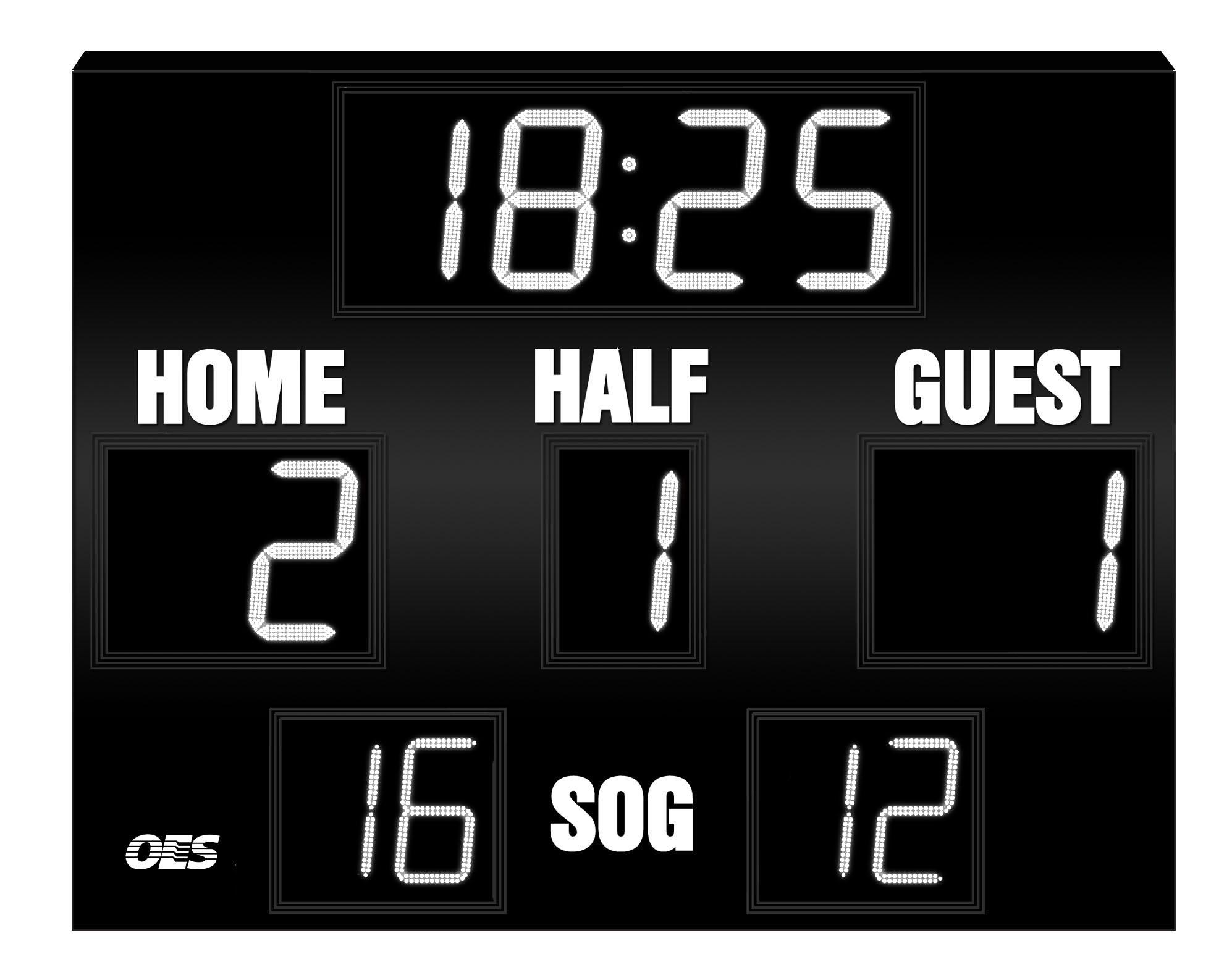 Soccer scoreboard clipart.