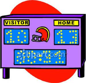 Image Gallery of Scoreboard Clipart.