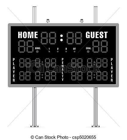 Football scoreboard clipart.