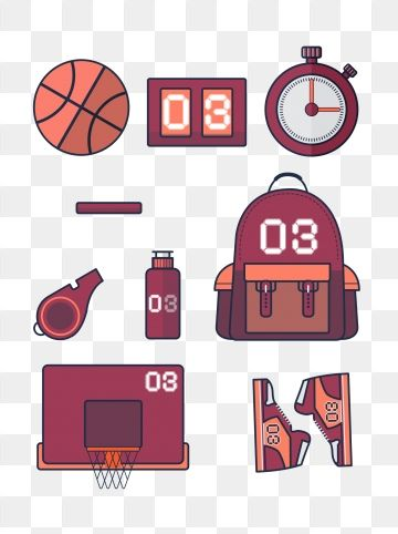 Basketball Scoreboard Stopwatch Backpack Whistle Cup Rebound.