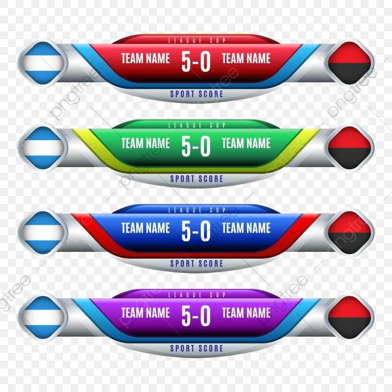 Scoreboard Elements, Soccer, Scoreboard PNG and Vector with.