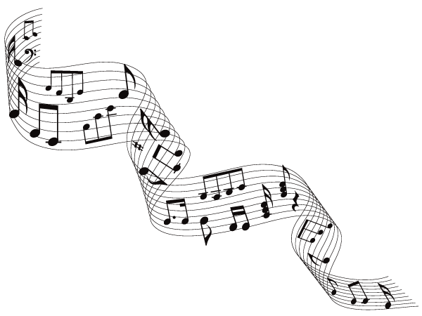 Music score clipart free.
