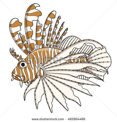 Lionfish Stock Photos, Royalty.