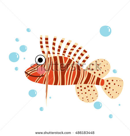 Red Lionfish Stock Photos, Royalty.