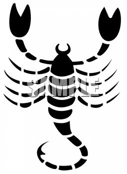 Zodiac Silhouette of Scorpio.