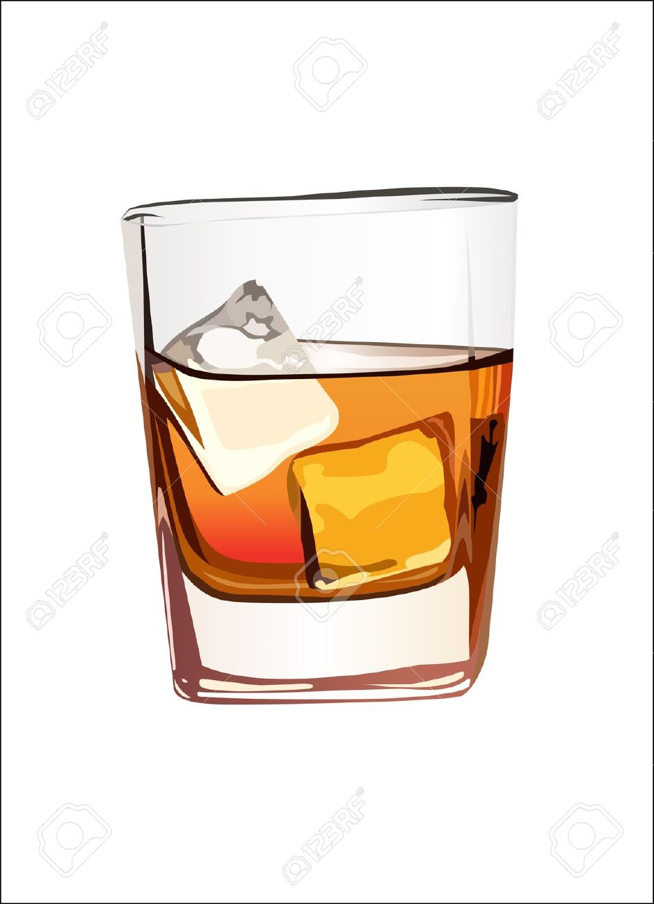 Scotch whiskey clipart.