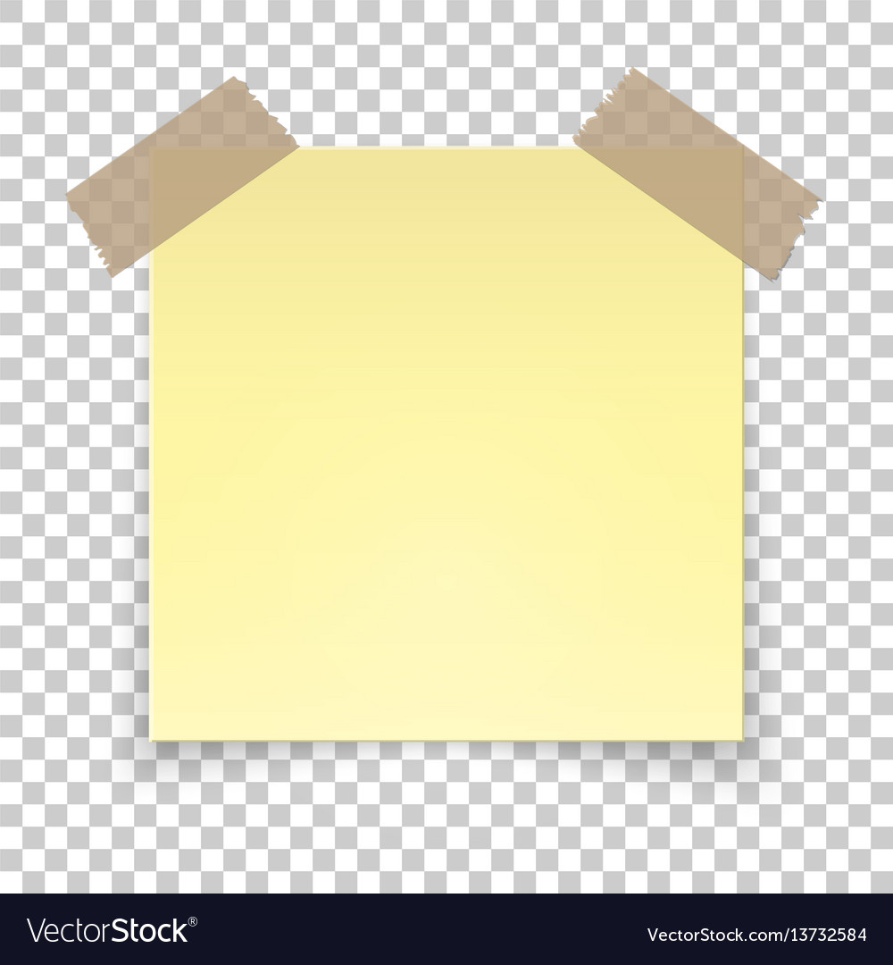 Realistic sticky tape on transparent background.
