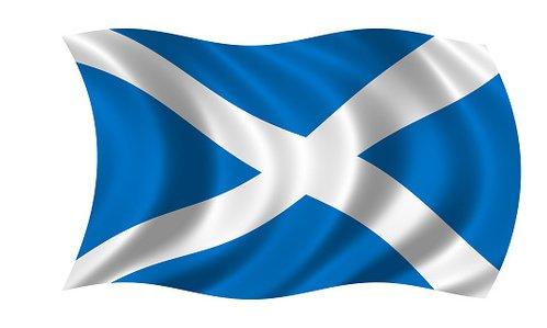 waving scottish flag Clipart Image.