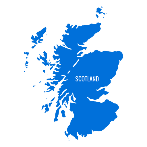 Scotland country map.