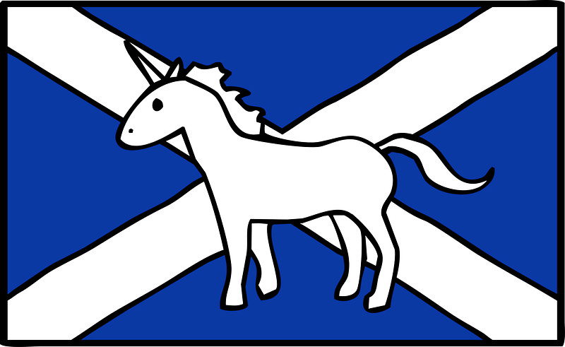 "Unicorn, Scotland's National Animal"" Stickers by jezkemp."