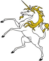 Horse & Unicorn Clip Art for Coat of Arms and Family Crest.