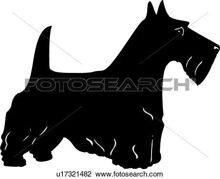 Scottish terrier Clip Art Illustrations. 186 scottish terrier.