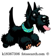 Scottish terrier Clip Art Illustrations. 187 scottish terrier.