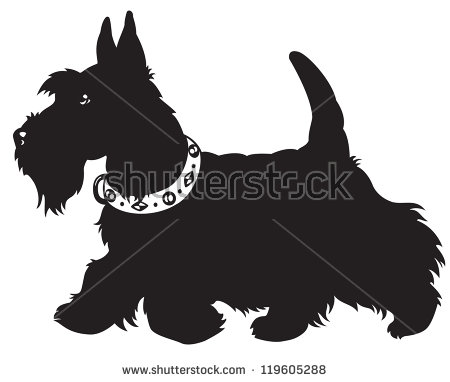 Scottie Dog Stock Images, Royalty.