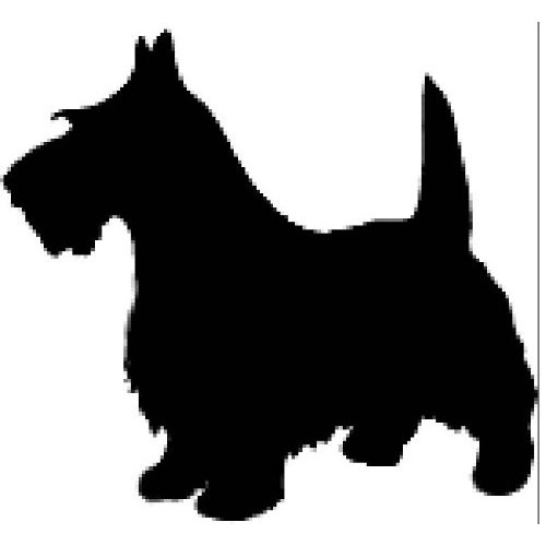 scottie dog silhouette.