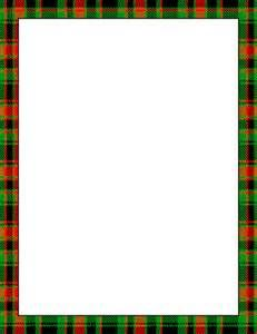 Scottish Tartan Page Borders.