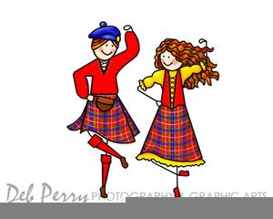 Scottish Dancing Clipart.