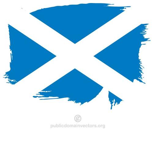 Painted flag of Scotland.