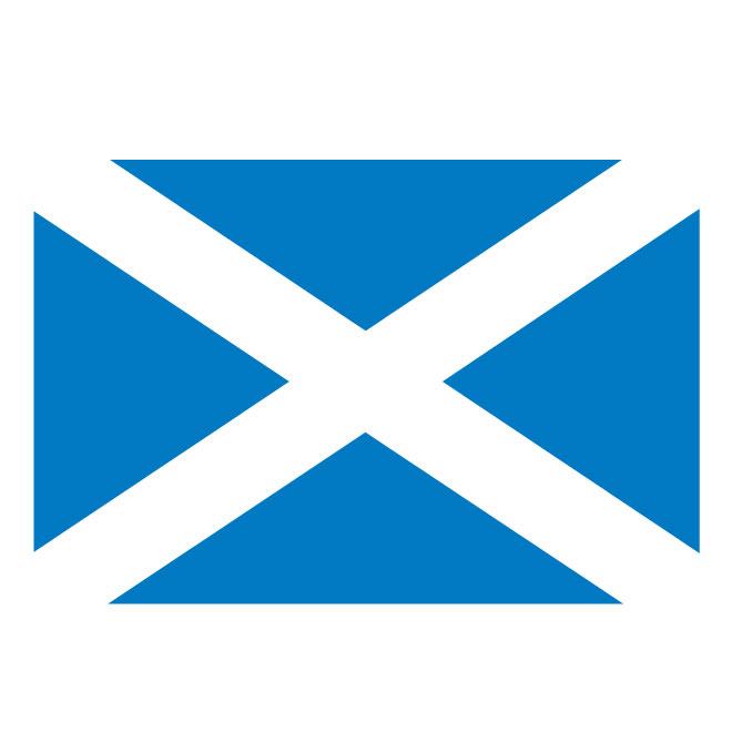 Scotland vector flag.