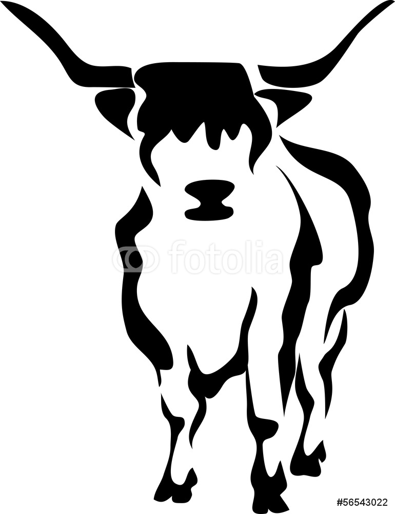 Scottish Highland Cattle Wall Sticker.