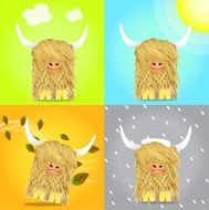 Highland Cow Clip Art Download 164 clip arts (Page 1.
