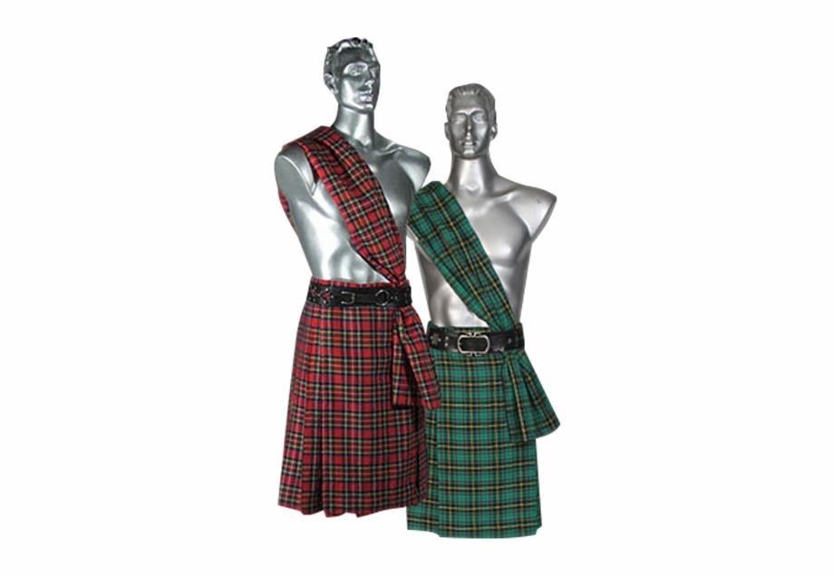 Men\'s Scottish Kilt With Scarf.