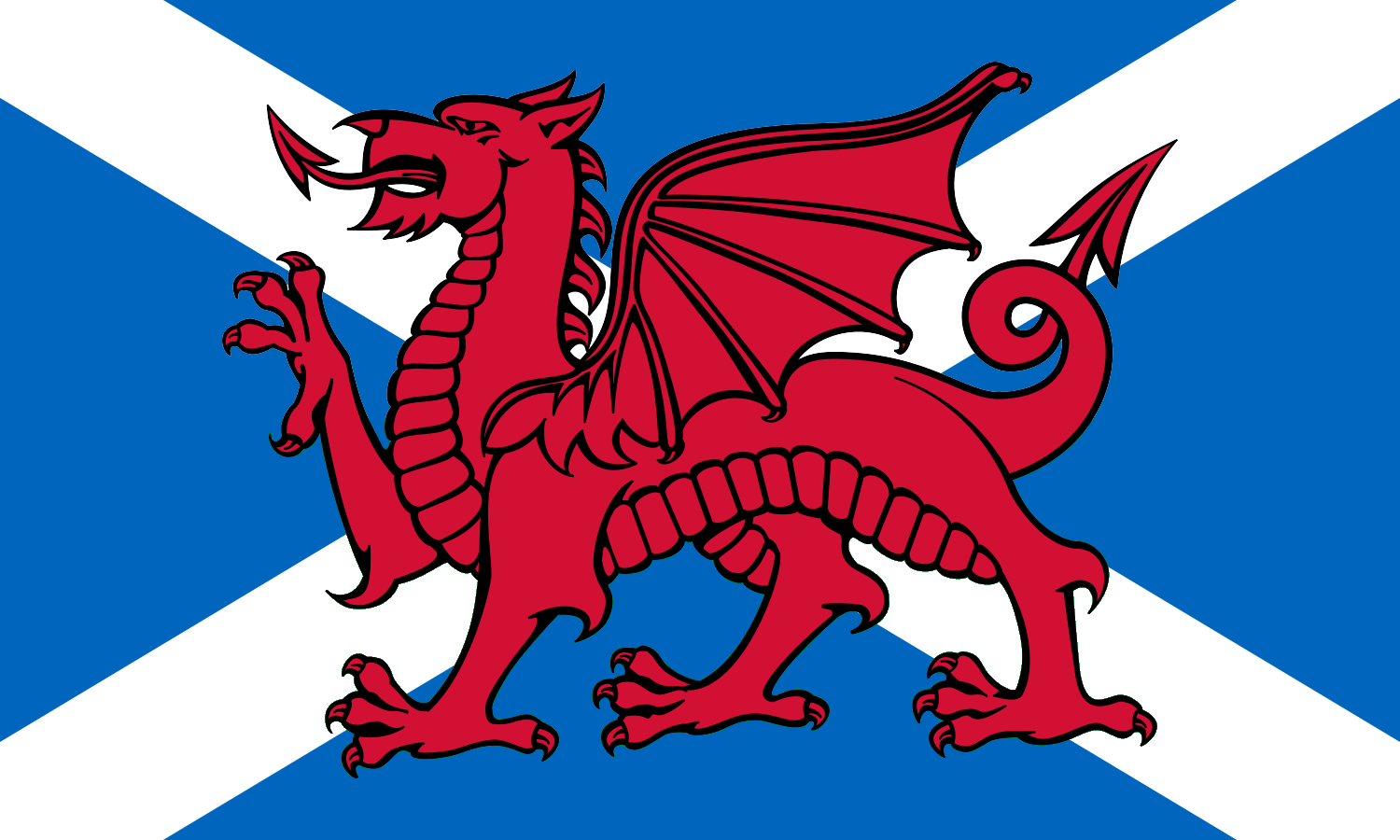 File:Union of Scotland and Wales (Welsh and Scottish Baner.