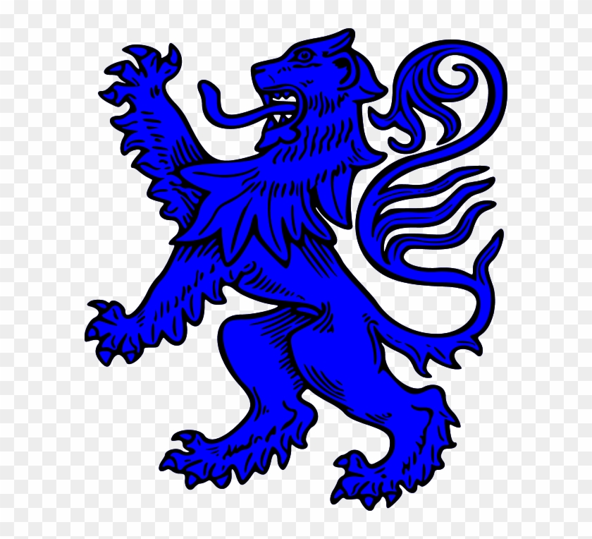 Scottish Lion Rampant Clip Art.