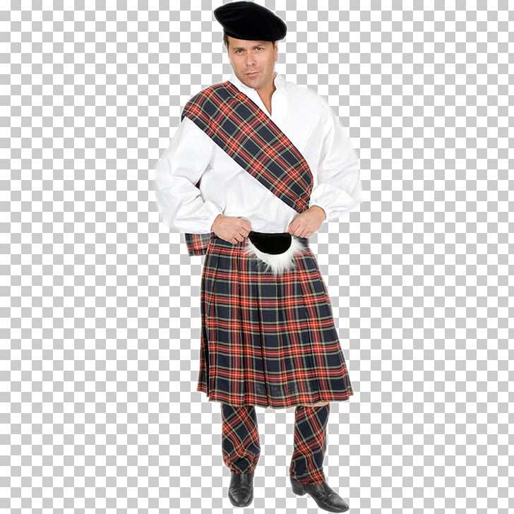 Kilt Scotland Costume Tartan Highland dress, dress PNG.