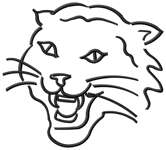 Scottish Wildcat Colouring Pages Clipart.