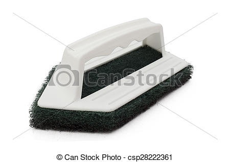 Stock Image of Clean scrubber,green fibber scourer.