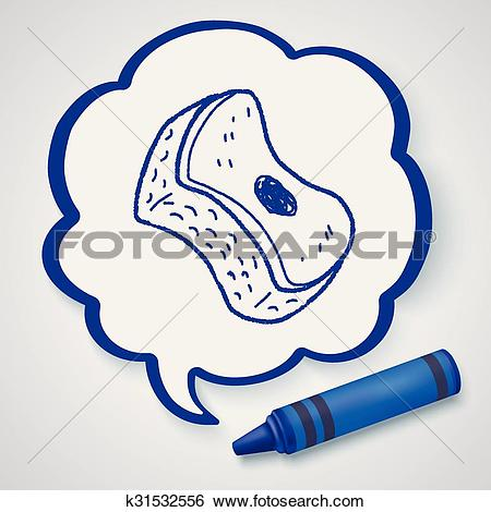 Clip Art of scouring pad doodle k31532556.