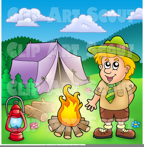 Cub Scout Camping Clipart.