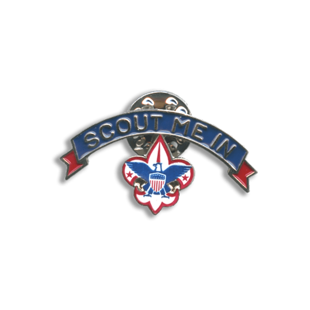 Scout Me In Corporate Logo Lapel Pin.