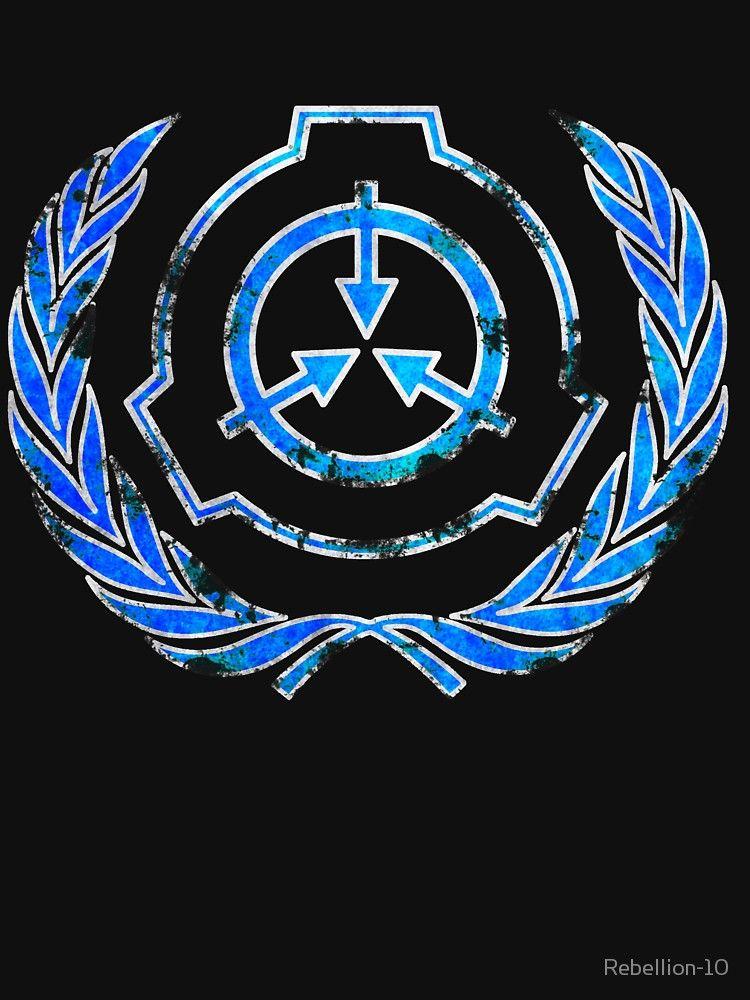 SCP foundation blue crest symbol\' T.